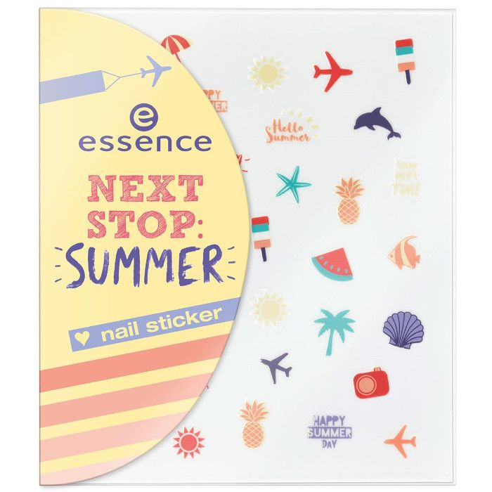 essence next stop summer nail sticker 01 37pcs compressor