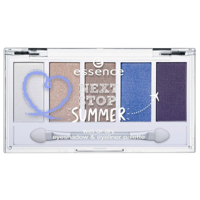 essence next stop summer wet or dry eyeshadow eyeliner palette 01 ready for take off 7g compressor