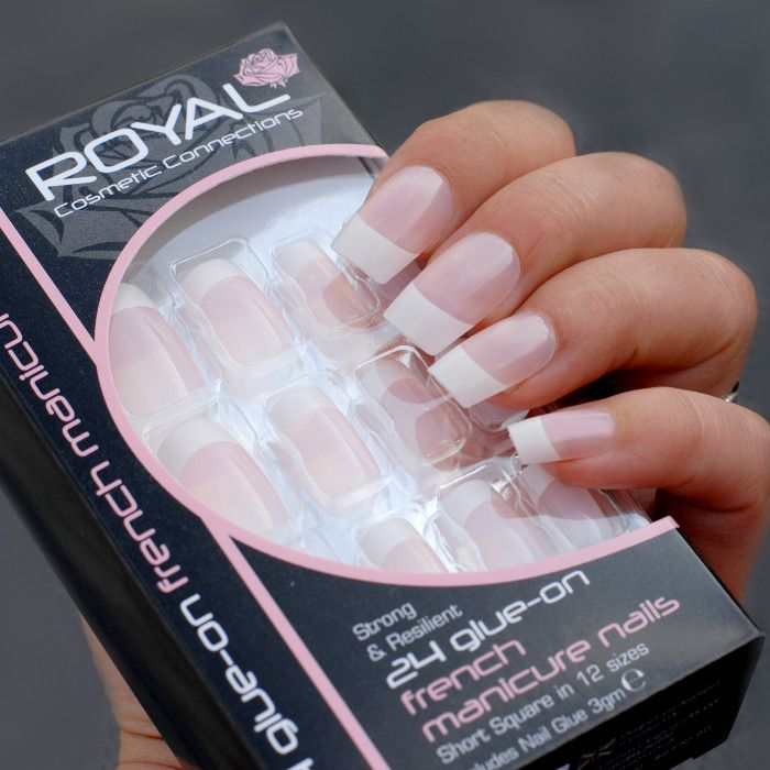 royal french manicure nails nalepovaci nehty ruzove compressor