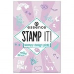 ESSENCE Šablony na razítko stamp it! 01 nails just wanna have fun!