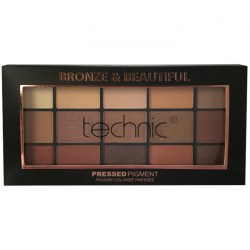 TECHNIC Paletka pigmentů v hnědých odstínech Pressed pigment palette BRONZE and BEAUTIFUL 21,9g